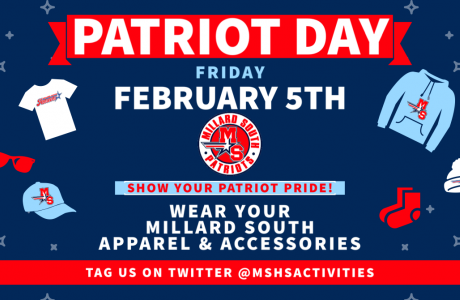 MSHS Patriot Day flyer-Feb 5th Wear your Patriot gear!