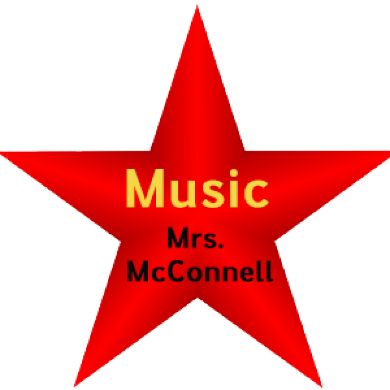 Red Music Star graphic