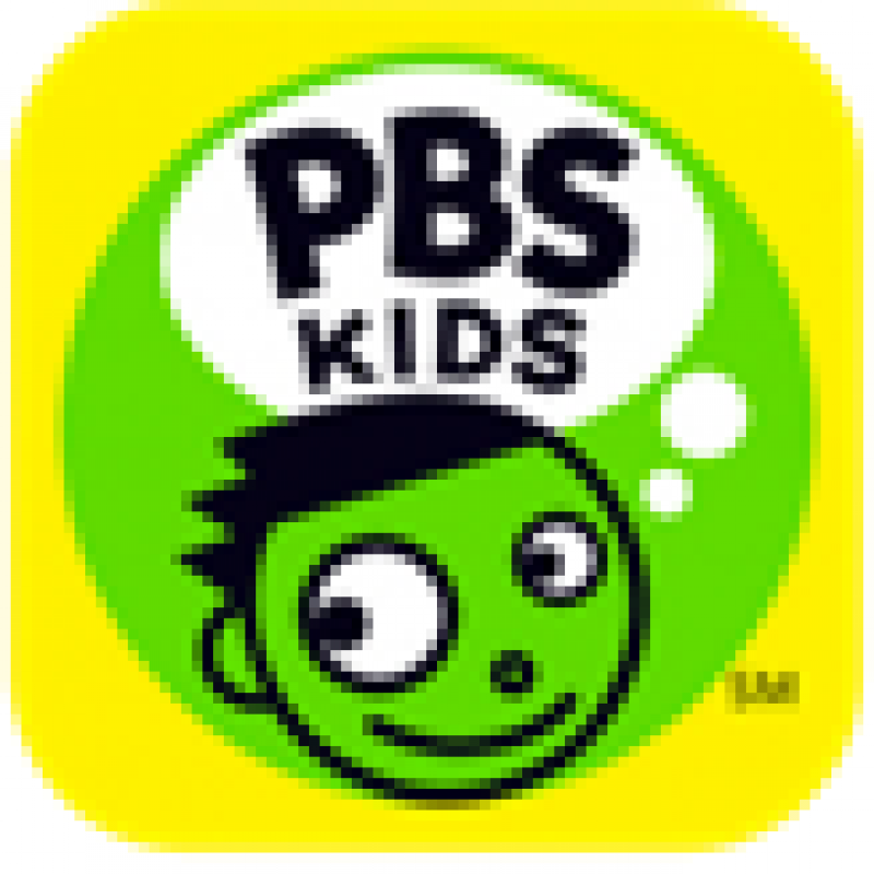 PBS Kids green and yellow logo with face