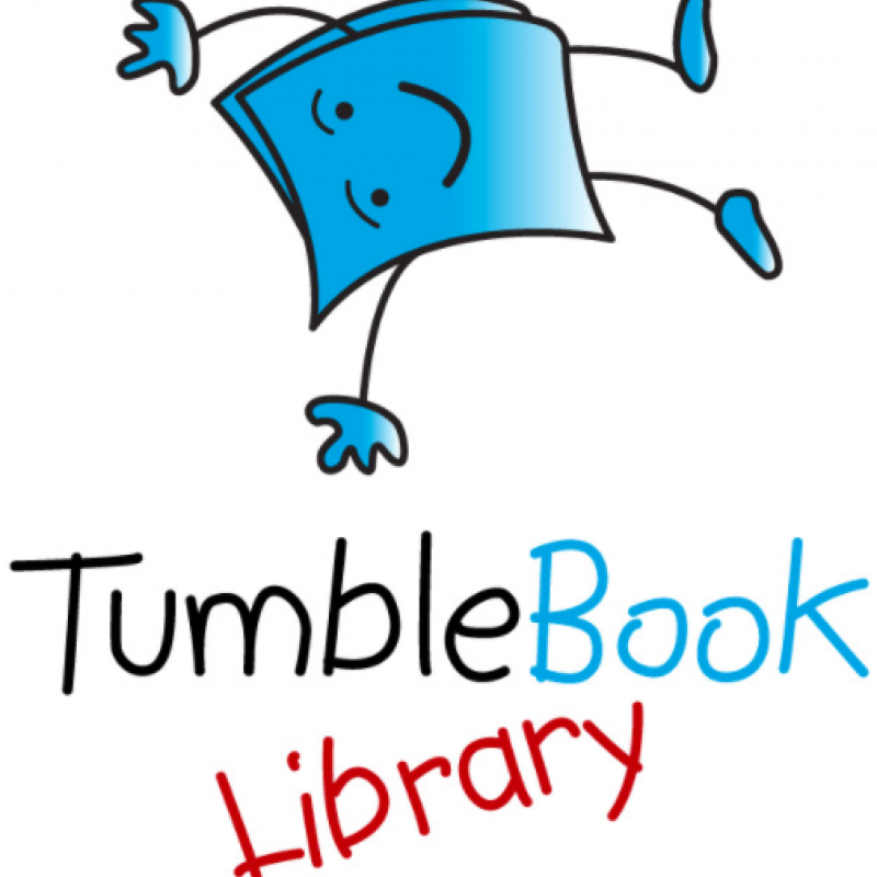 TumbleBook Library icon with book
